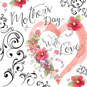 TMD11  Mothers Day Card with Heart